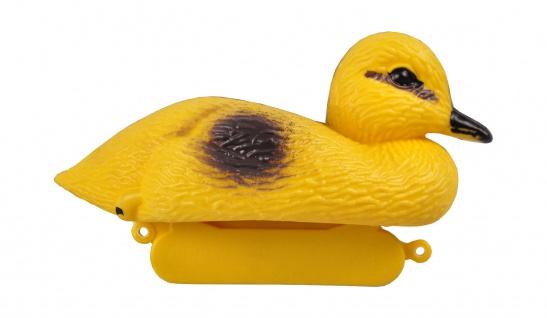 Teichfigur Ente Küken 13cm Dekoente Teichdeko Schwimmfigur Gartenteich Teich - Vorschau 2