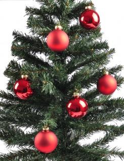 Weihnachtsbaumkugeln 12er-Set rot Christbaumkugel Baumschmuck 6cm Weihnachtsdeko