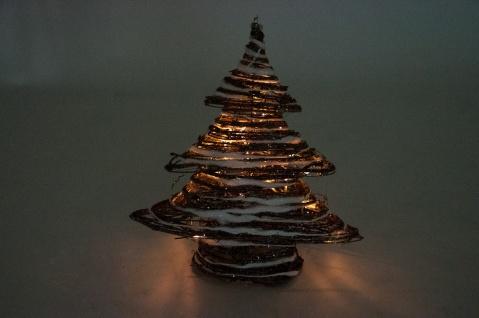 Weihnachtsbaum Rattan.Led Deko Weihnachtsbaum Rattan 40cm Tannenbaum Dekobaum Weihnachten Fensterdeko