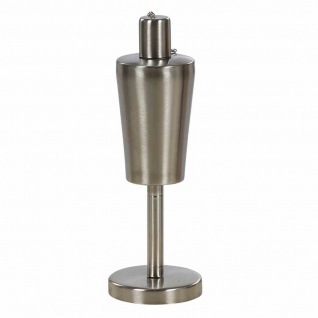 Tischölfackel Dana, aus Edelstahl, Aluminium und Fiberglasdocht Ø 9 x 27 cm, Max. Ölfüllmenge 340 ml