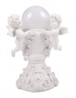 LED Engel am Brunnen Schutzengel Solarleuchte Leuchtkugel Grabschmuck Dekoengel
