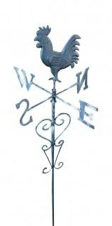 Metall-Gartenstecker Wetterfahne Wetterhahn Windspiel Beetstecker Gartendeko