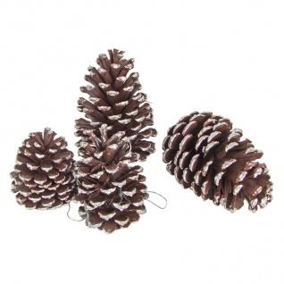 Weihnachtsbaum-Anhänger Tannenzapfen 4er-Set Christbaumschmuck Weihnachtsdeko