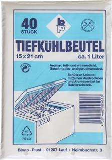 GEFRIERBEUTEL Tiefkühlbeutel 501 150x210 Bt A40st