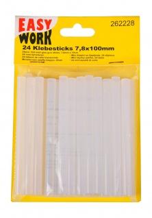 24er-Set Mini Heißklebesticks 100x7mm Klebepatronen Heißklebestifte Bastelkleber