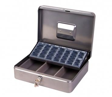Geldkassette mit Euro-Einsatz Geld Kassette Tresor abschließbar mit Münzfach neu