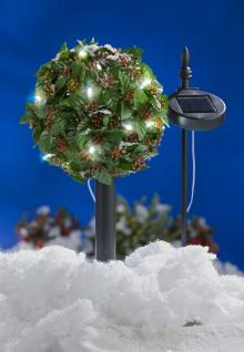LED Solar-Bäumchen Ilex Stechpalme Gartenbeleuchtung Weihnachtsdeko Kunstpflanze