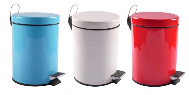Edelstahl Treteimer 5L Mülleimer Kosmetikeimer Abfalleimer Mülltrenner