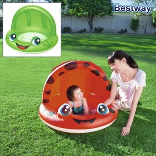 Planschbecken mit Sonnenschutz Kinderpool Marienkäfer Frosch Schattenspender