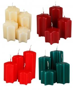 Adventskerzen-Set Sternform Weihnachtskerzen Weihnachtsdeko Sternkerzen Kerzen