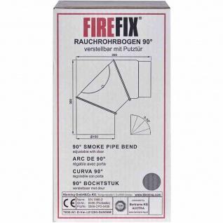 Ofenrohrbogen 90° Ø150mm grau verstellbar Ofenrohr Rauchrohr Kaminrohr Ofen TOP