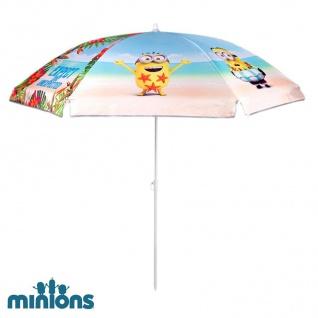 Minions Kinder Sonnenschirm 140cm mit Tasche Strandschirm Gartenschirm UV-Schutz - Vorschau 2
