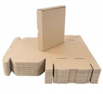 50 Kartons 22x18x4 cm Versandkarton Faltkarton Großbrief Pappkarton Warensendung