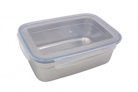 Edelstahl Frischhaltedose 550ml Vorratsdose Brotdose Lunchbox Klickverschluss