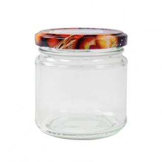 Einmachglas mit Schraubdeckel Früchtemotiv 210ml Vorratsglas Geleeglas Honigglas