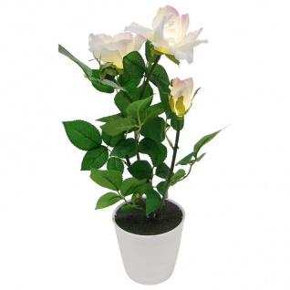 LED Beleuchtung Künstliche Rose Blumentopf Kunstpflanzen Kunstblumen Dekoblumen