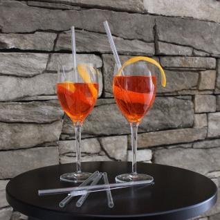 Glas-Trinkhalme 20cm mit Reinigungsbürste 5-tlg Mehrweg Trinkröhrchen Strohhalm
