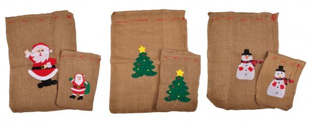 Geschenkesack 2er-Set Jutesack Nikolaussack Geschenkebeutel Geschenkverpackung