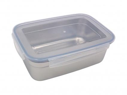 Edelstahl Frischhaltedose 350ml Vorratsdose Brotdose Lunchbox Klickverschluss