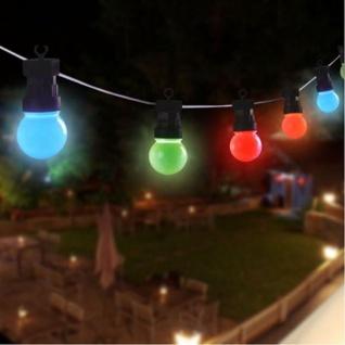 LED Biergarten-Lichterkette Partylichterkette Partybeleuchtung Garten bunt 4, 5m