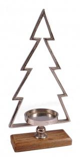 Kerzenständer Tannenbaum 40cm für Stumpenkerzen Weihnachtsdeko Baum Dekotanne