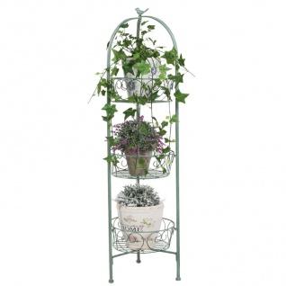 Metall Blumentopfhalter antik grün Blumentreppe Blumenständer Blumenampel Regal