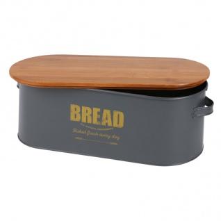 Brotkasten Bread Brotkorb Brotbehälter Brotkiste Aufbewahrungsbox 46x16x18cm