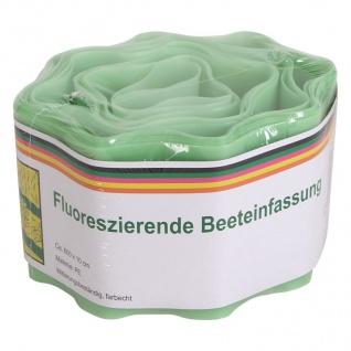Fluoreszierende Beeteinfassung 600x10cm Beetumrandung Rasenbegrenzung Gartendeko