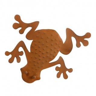 Deko Frosch aus Metall rostbraun Dekofigur Wanddeko Gartendeko Gartenfigur - Vorschau