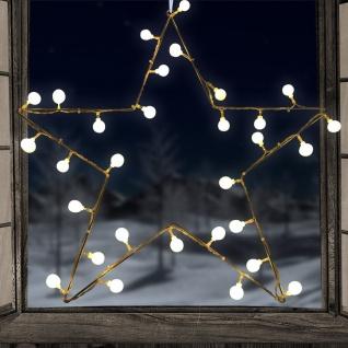 Metall-Stern mit 30 LED-Kugeln 54cm Weihnachtsstern Weihnachtsdeko Fensterdeko