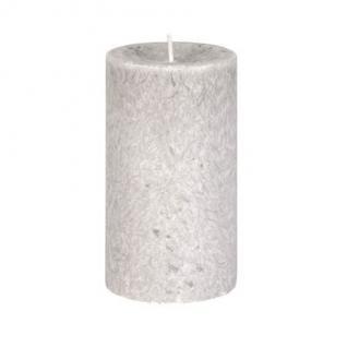 Diamond Candles Stumpenkerze hellgrau 70x120 mm Wachskerze Deko Wachs Kerze