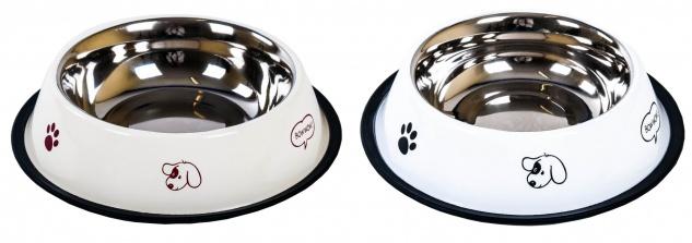 Edelstahl-Fressnapf Ø 21, 5cm antirutsch Trinknapf Saufnapf Wassernapf Hund Katze