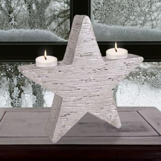 Teelichthalter Stern 21cm Adventsstern Weihnachtsdeko Adventsdeko Kerzenhalter
