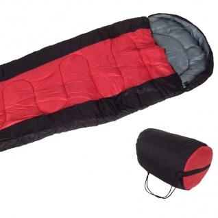 Schlafsack rot Mumienschlafsack + Tasche Deckenschlafsack Camping Zelten Outdoor