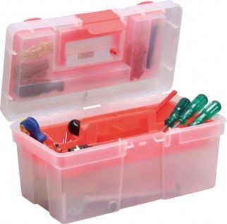 """allit MCPLUS Kunststoffkoffer ,, McPlus Clear 16"""" 416411 16 Rot"""