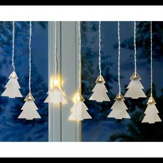 Lichterkette Tannenbäume 8 LED Weihnachtsbeleuchtung Weihnachtsdeko Winterdeko