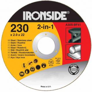 Trennscheiben 230x2, 0x22mm für Stahl + Inox Schruppscheiben Schleifscheiben TOP