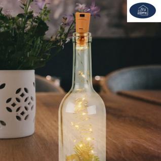 Flaschen-Lichterkette mit 10 LEDs Korken Drahtlichterkette Dekolicht Partylicht