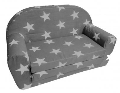 Kindersofa klappbar hellgrau Kindercouch Kinderzimmermöbel Spielsofa Sofa Couch