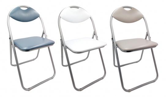 Metall Klappstuhl mit Kunstlederbezug und Polsterung Gästestuhl Besucherstuhl