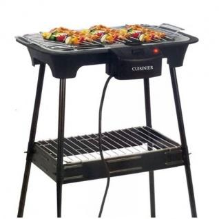 Elektro Standgrill Temperaturregler Elektrogrill Barbecue Gartengrill Balkon