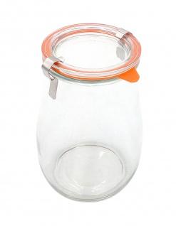 Einmachglas mit Klammern 1L Einweckglas Vorratsglas Konservenglas Tulpenglas