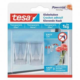 Klebehaken Glas, 2 x 1 kg, transparent