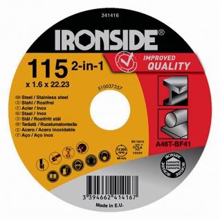Trennscheibe 115x1, 6x22 für Stahl+Inox Schruppscheibe Schleifscheibe Werkzeuge
