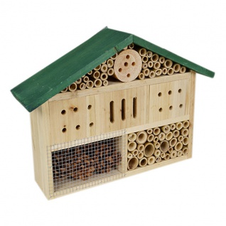 Holz Insektenhotel Insektenhaus Insektenkasten Nistkasten Brutkasten Gartendeko