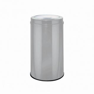Abfalleimer Big Swing 120l neusilber Mülleimer Abfall Müllbehälter Mülltonne TOP