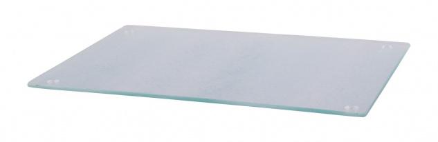 Glas Schneidebrett 20x30cm Frühstücksbrett Untersetzer Glasplatte Schneideplatte