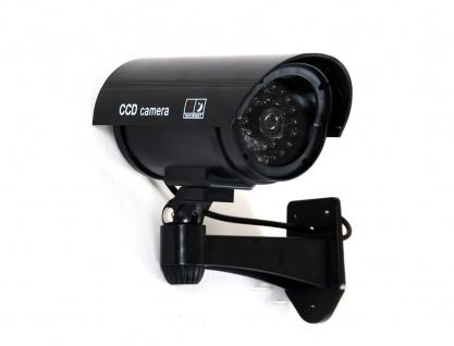 TAS Überwachungskamera Attrappe mit LED Dummy Kameraattrappe Dummy CCD Camera