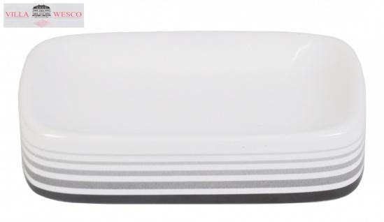 Villa Wesco Keramik / Edelstahl Seifenschale Seifenablage Seifenhalter weiß neu - Vorschau 2