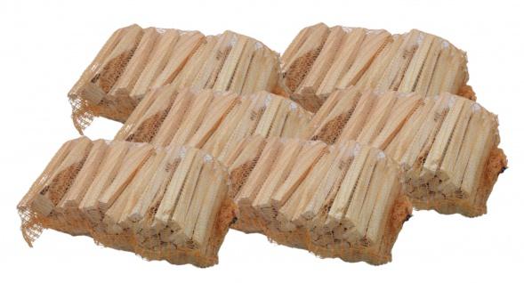 6x Anfeuerholz im Sack getrocknet Anzündholz Brennholz Nadelholz Kiefer Fichte